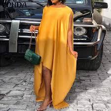 <b>Women</b> Party Dress Vintage Sleeveless Asymmetrical Maxi Long ...