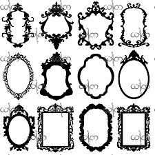 victorian frame design. Baroque Frames Clip Art Graphic Design Pattern For Your Projects. $6.00, Via Etsy Victorian Frame O