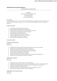 Nursing Student Resume Template 8 Entry Level Sample
