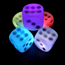 Dice With Lights Us 0 91 6 Off New 1 Pc Lovely Led Colorful Light Dice Battery Powered Shape Lighting Bedside Lamp Night Light Party Decors Luminaria De Mesa In Led