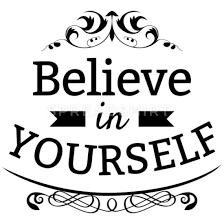 Believe In Yourself Text Sprüche Thermobecher Spreadshirt