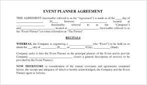 event planning questionnaire event planner agreement template event planning agreement template