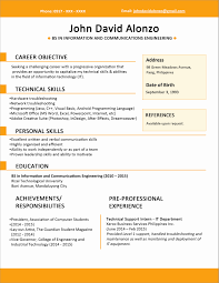 It Resume Format For Experienced Lovely Sample Resume Format For