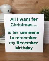 Christmas Birthday Cards Funny Christmas Birthday Card December Birthday Xmas Card