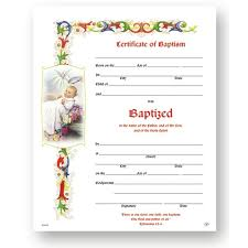 Baptism Certificate Baptism Certificate 50 Pack The Catholic Company