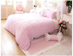 princess comforter full size girls pink comforter set luxury lace ruffle tulle princess bedding sets 5