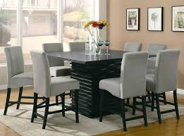 counter height dining table and 8 chairs tall dining table with 8 chairs best gallery of