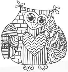 Owl Mandala Coloring Page Characters Animals Coloring Pages
