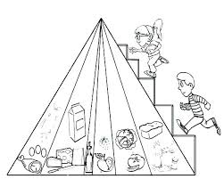 Food Pyramid Coloring Page Together With Pyramid Coloring Page Food