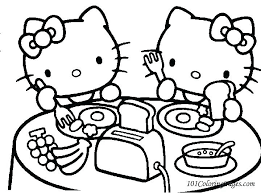 Free Printable Hello Kitty Coloring Pages For Kids Regarding Online