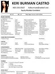 Sample Theatre Resume