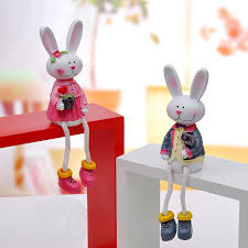 Rabbit Decorative Accessories decorative rabbits miniature fairy figurines home decoration 91