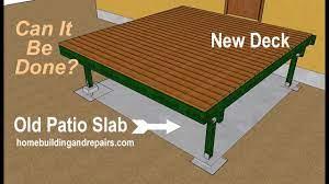 existing concrete patio slab