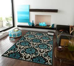 modern blue rug theme