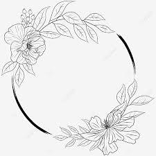 Template bunga coklat dan merah muda, bingkai bunga lingkaran, bingkai bunga bulat, lukisan cat air, ungu, bingkai png. Gambar Bingkai Bulat Garis Dekoratif Bunga Bingkai Bunga Garis Besar Png Dan Vektor Dengan Latar Belakang Transparan Untuk Unduh Gratis