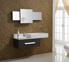 Brown Painted Bathrooms Black Granite On Tops Vanities Black Ceramic Washbasin Base Brown