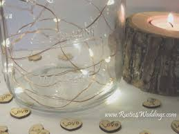 rustic wedding lighting ideas. Rustic Wedding Decorations Mason Jars Elegant Fairy Lights Battery Operated String Lighting Ideas