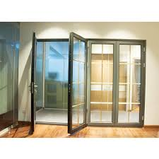 aluminum frame folding glass doors