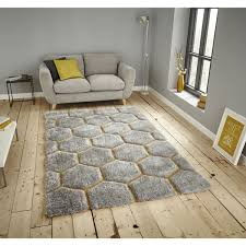 noble house nh30782 grey yellow rug by think
