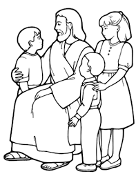printable picture of jesus. Modren Printable The Little Children And Jesus Coloring Page Inside Printable Picture Of E