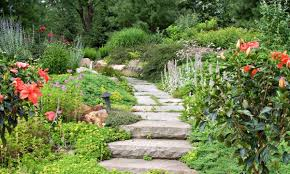 garden paths with sand or mortar