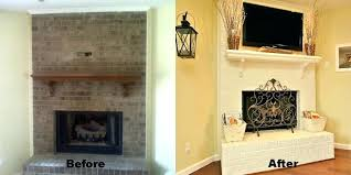 brick fireplace remodel before and after pictures ideas to update a brick fireplace brick fireplace remodel