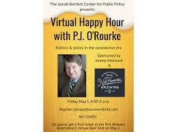 May 1: Virtual Happy Hour with author P.J. O'Rourke | Manchester Ink Link