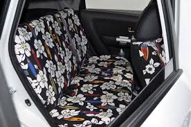 custom rear bench seat covers in hawaiian color surf for a kia