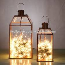 led glass lanterns glass candle lantern metal lantern home decor