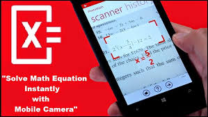 use mobile to solve math equation with photomathh app