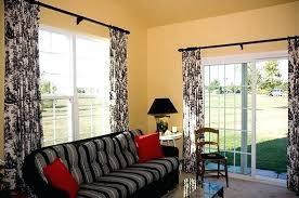 sliding curtain dual panel ds for sliding glass doors sliding door curtain rod ideas
