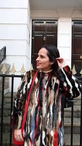 neutral tones faux fur jacket and light denim chiara lanero blog
