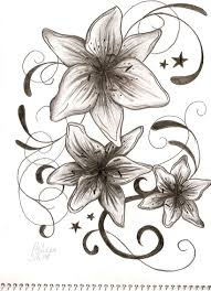Flowers With Designs Grey Flowers Tattoos Designs