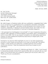 Journalism Cover Letter Example Journalism Cover Letter Sample
