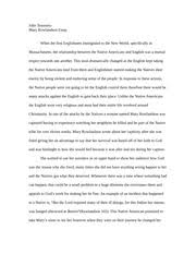 hist c hist c chapter tales of captivity and  4 pages mary rowlandson essay