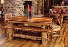 Rustic Wooden Kitchen Table Furniture Rustic Wooden Kitchen Dining Room Interiors On Marble