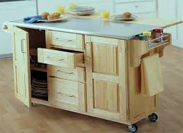 movable kitchen island with drop leaf