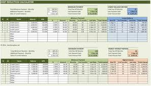 Spreadsheet Free Debt Snowball Calculator Best Online Excel