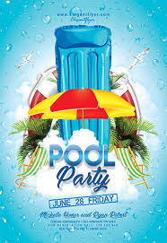 poster psd free poster for summer pool party by elegantflyer