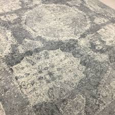 pottery barn rugs smell furniture new barret printed wool rug gray nwt free round desa