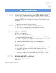 Restaurant Cook Resume Line Cook Resume Examples Ellseefatih Com