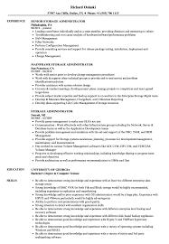 San Administration Sample Resume Storage Administrator Resume Samples Velvet Jobs 16