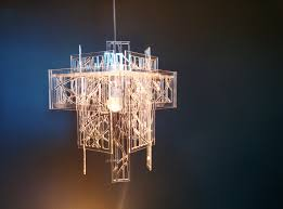 extraordinary recycled acrylic laser cut light shade chandelier 70 00 gbp
