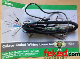 electrical wiring harness bsa wiring harness bsa a50 a65 lu5490711 59635 5490711 bsa a50 a65 1970 72 genuine