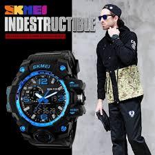 skmei men sports watch 50m swim dive led digital military big dial skmei 1155 military watch men quartz analog waterproof clock man sports watches army wristwatchess