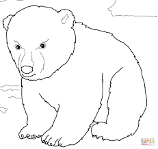 Small Picture Cute Polar Bear Cub coloring page Free Printable Coloring Pages