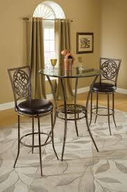 three piece dining set: marsala bar height bistro dining three piece set gray amp rust highlights ptbs