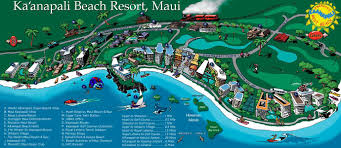 kaanapali beach map ka'anapali fresh — ka'anapali beach resort