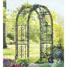 montebello iron arbor arch trellis