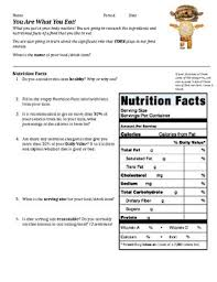 nutrition label and ing ysis activity nutrition label and ing ysis activity